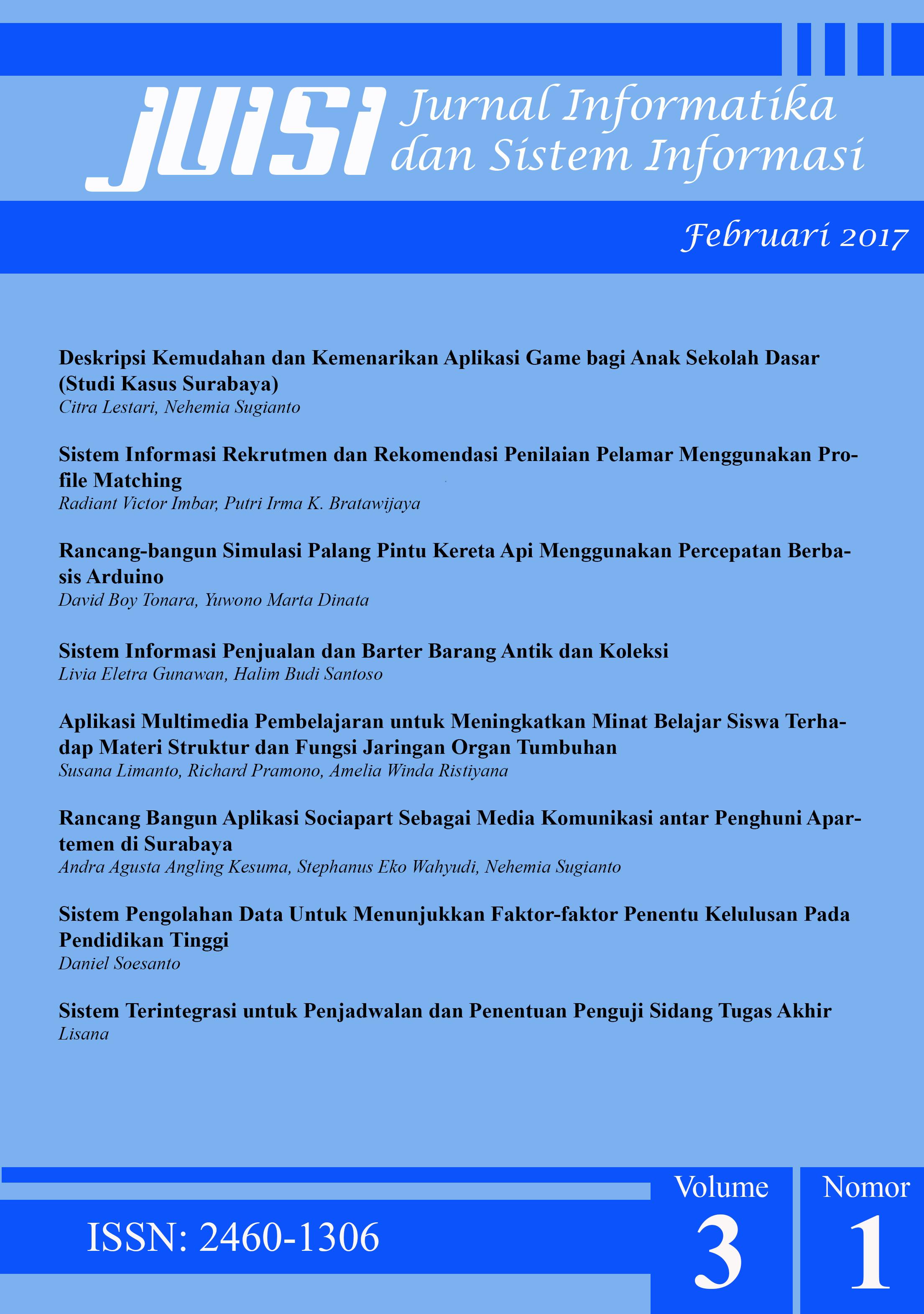 Jurnal Informatika dan Sistem Informasi